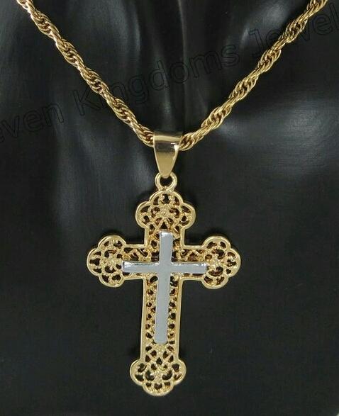 "Кръст и ланец с 18-каратово златно покритие ""Йерусалим"""