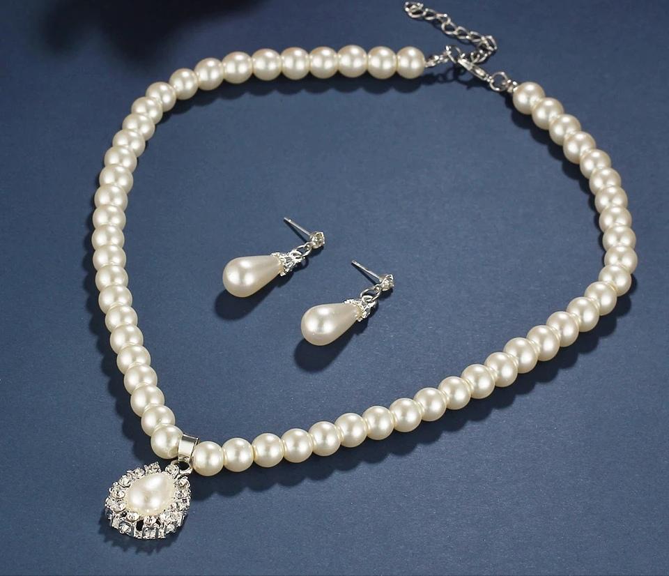 """Комплект от перли и кристали """"Ния"""""""
