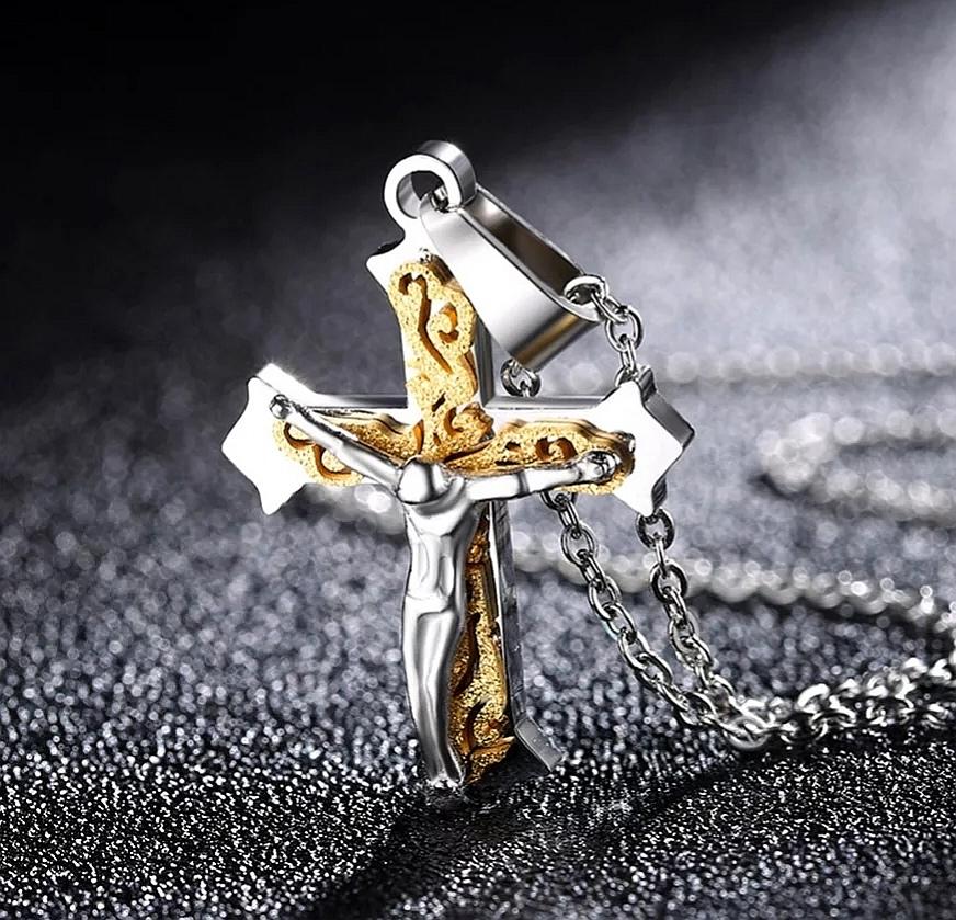"""Кръстче от стомана """"Изкуплението на Исус"""""""