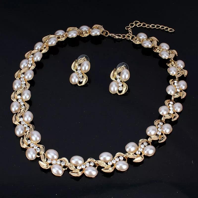 """Комплект с перли и кристали """"Баронеса"""""""