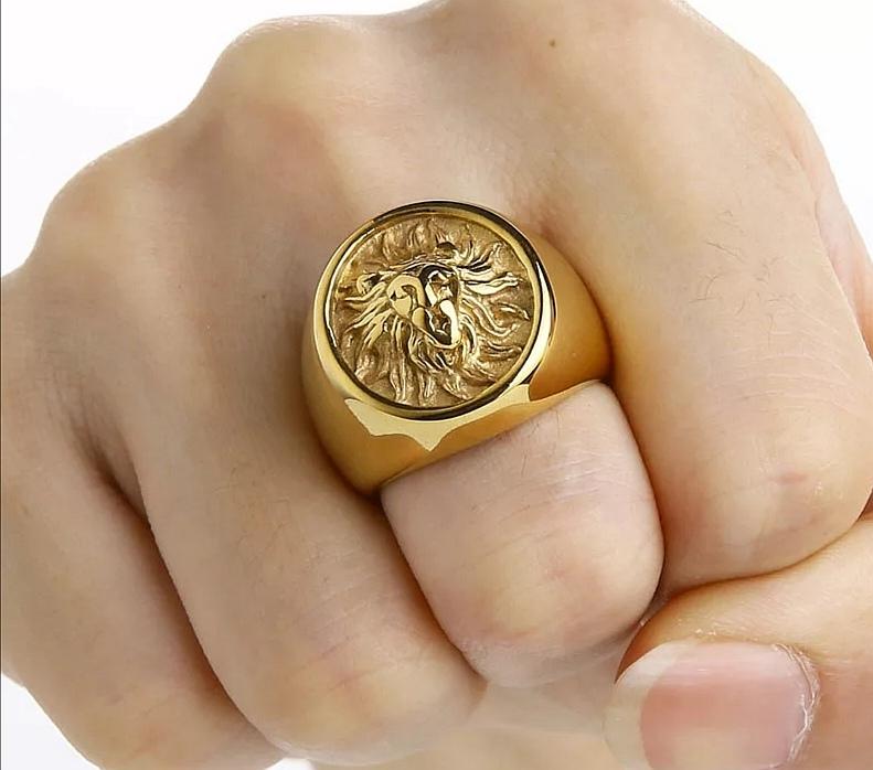 """Мъжки пръстен """"Златен лъв"""""""