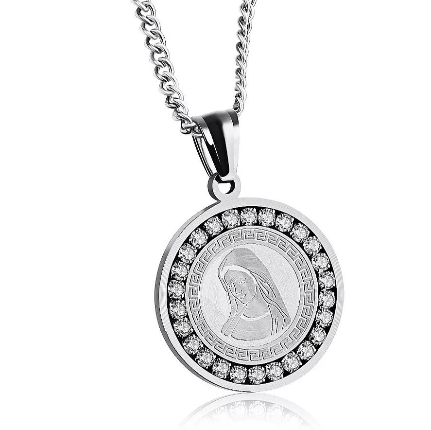 """Медальон от стомана """"Богородица"""" – 1"""