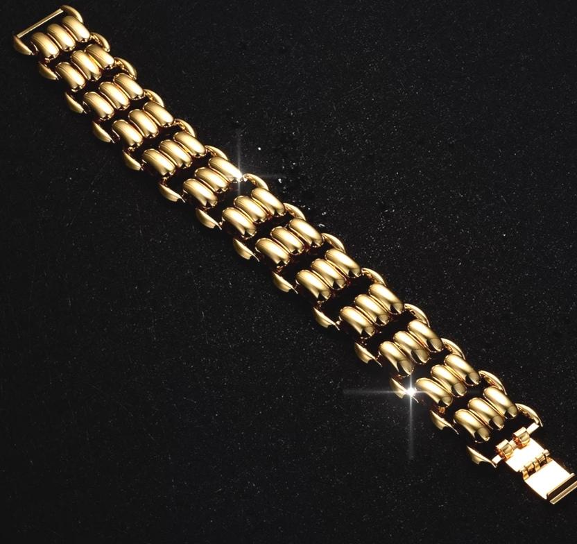 "Луксозна гривна с 18 К златно покритие ""Калифорния"""