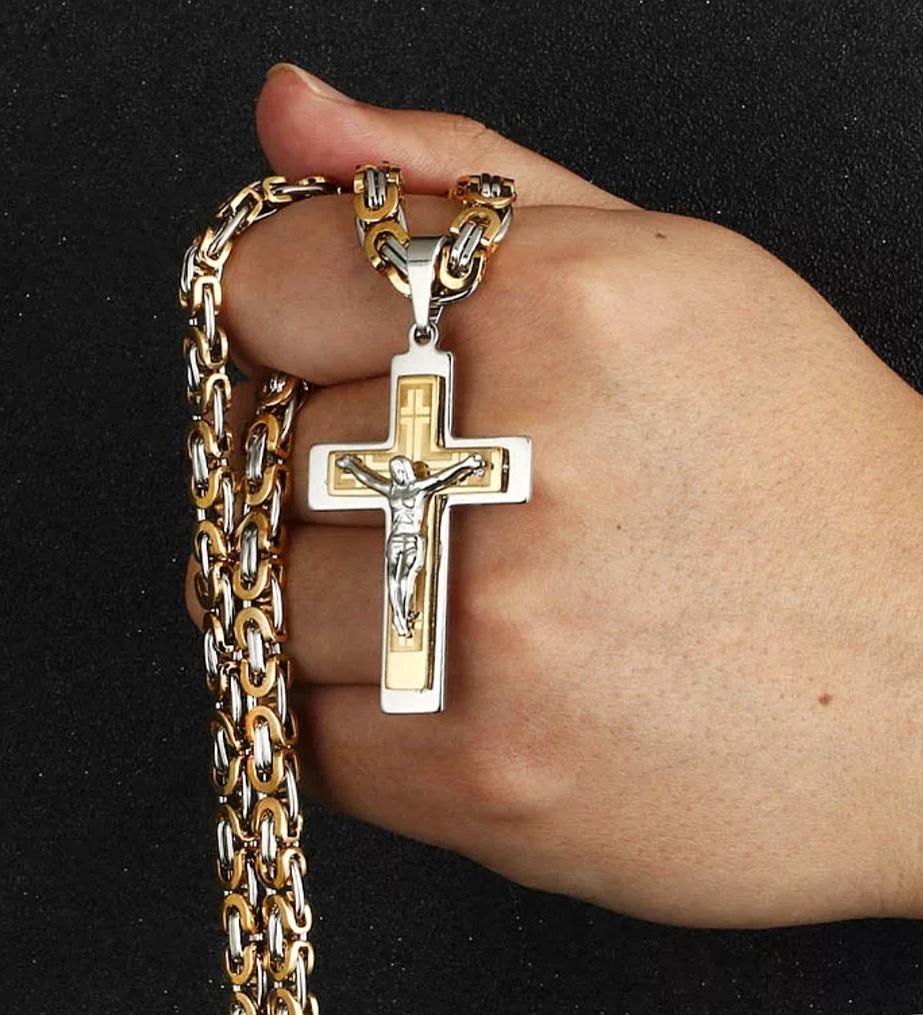 """Кръст и ланец от стомана """"Тексас"""""""