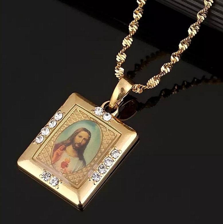 """Медальон с позлата """"Сърцето на Исус"""""""