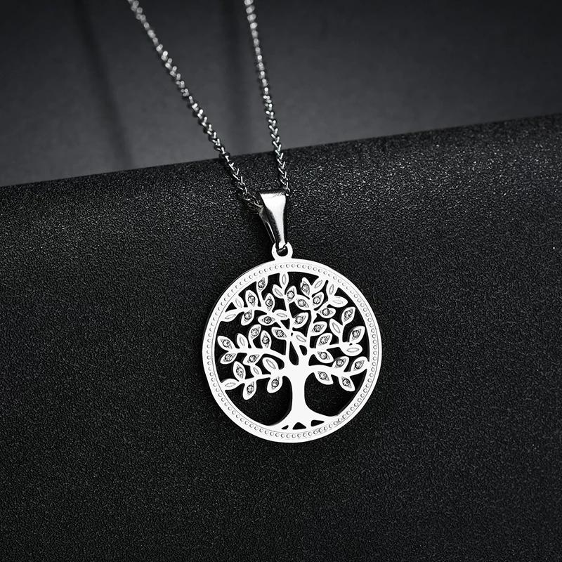 """Медальон от стомана """"Дървото на живота"""" – 05"""
