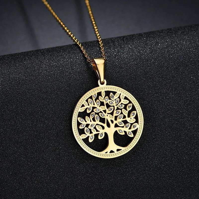 """Медальон от стомана """"Дървото на живота"""" – 04"""