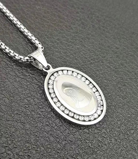 "Медальон от стомана ""Света Дева"" – 01"